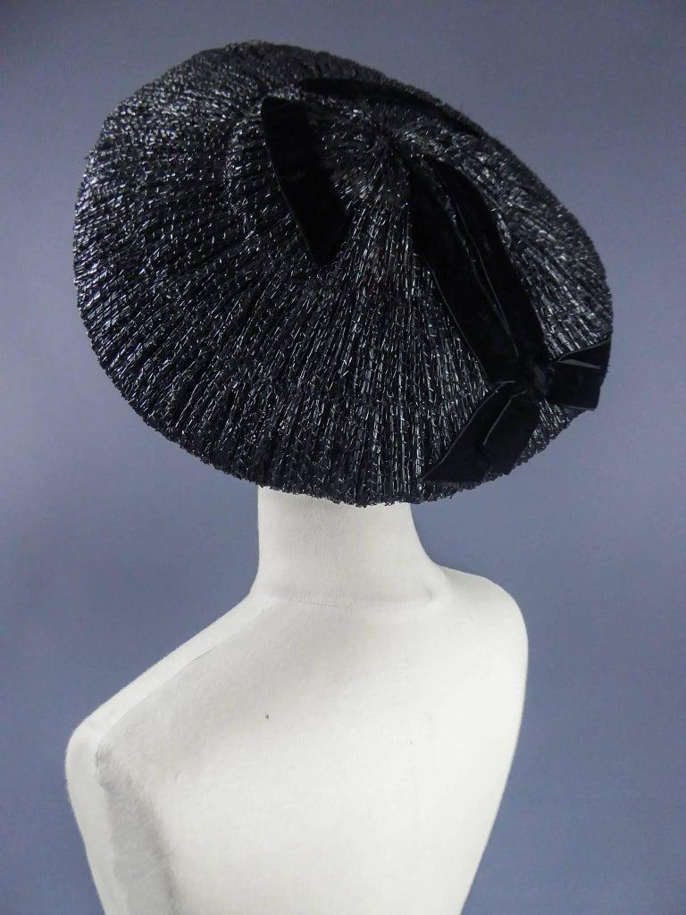 Dior Bar Suit Hat, Circa 1947 For Sale 3