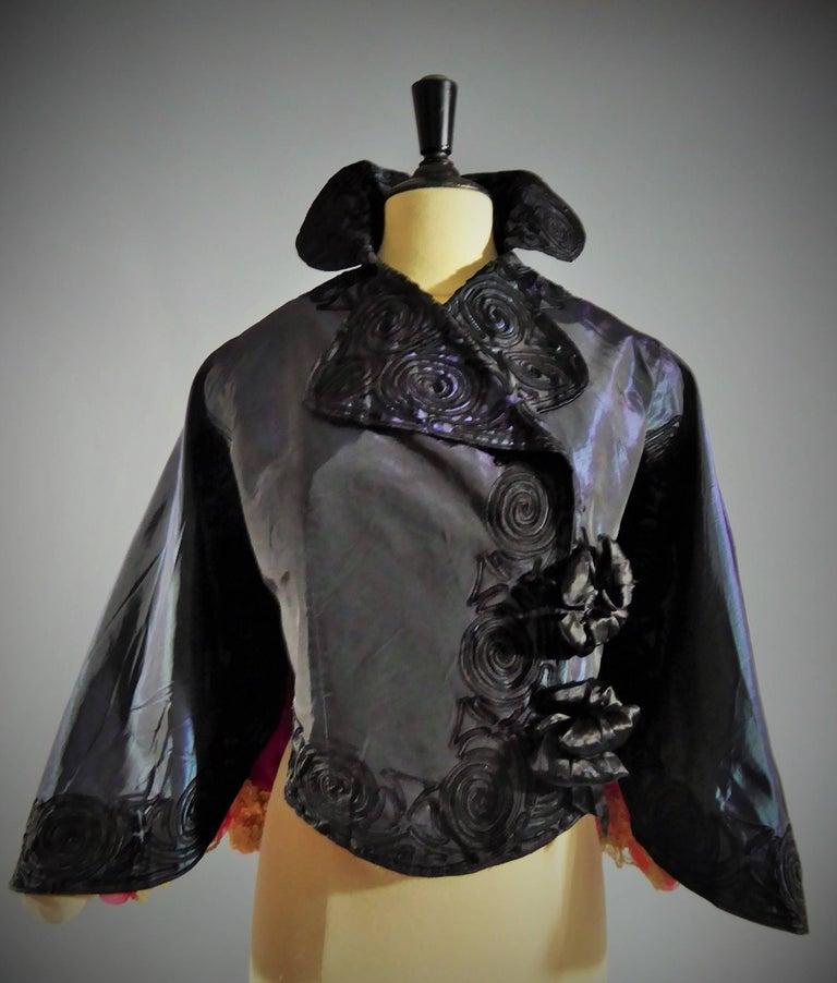 Black Jacques Doucet Haute Couture Evening Mantle, Circa 1900 For Sale