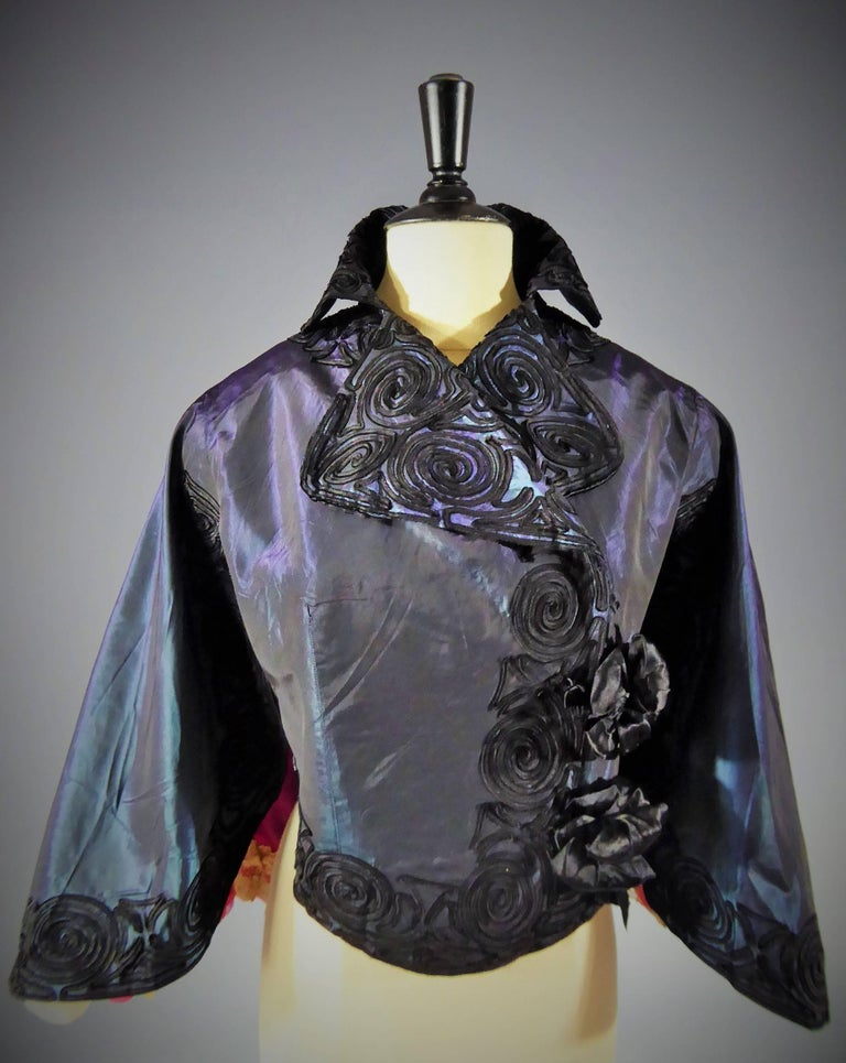 Jacques Doucet Haute Couture Evening Mantle, Circa 1900 In Excellent Condition For Sale In Toulon, FR
