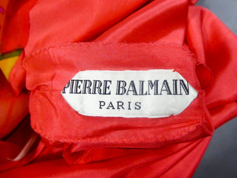 Pierre Balmain Haute Couture Dress Numbered 148642 For Sale 5