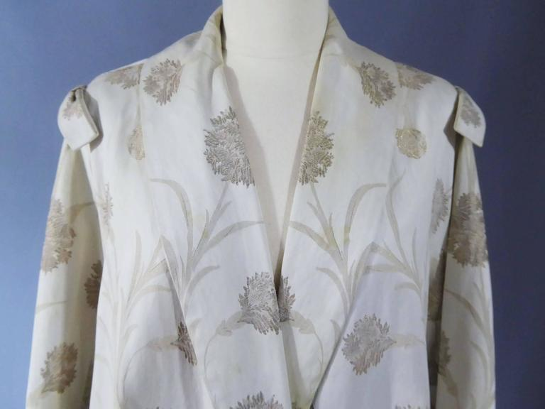 Gray Lanvin Castillo Japonese Inspiration Couture Coat Late 50s For Sale