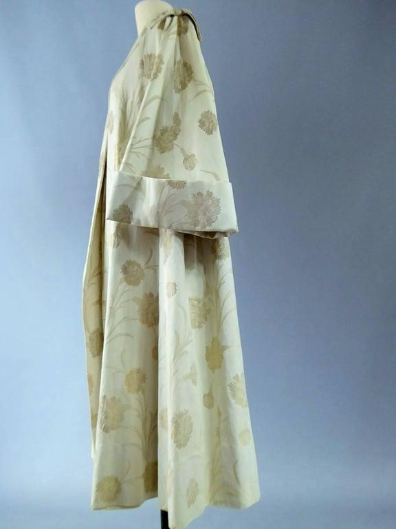 Lanvin Castillo Japonese Inspiration Couture Coat Late 50s In Good Condition For Sale In Toulon, FR
