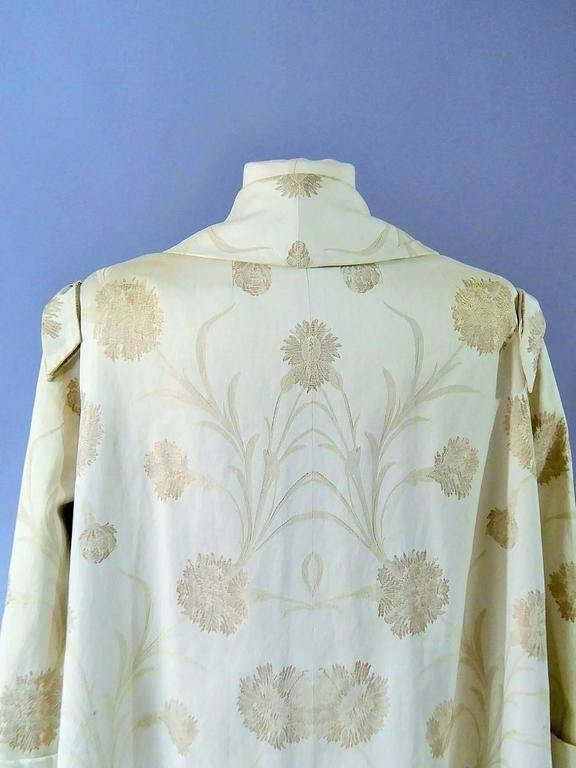 Women's Lanvin Castillo Japonese Inspiration Couture Coat Late 50s For Sale
