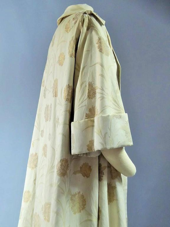 Lanvin Castillo Japonese Inspiration Couture Coat Late 50s For Sale 2