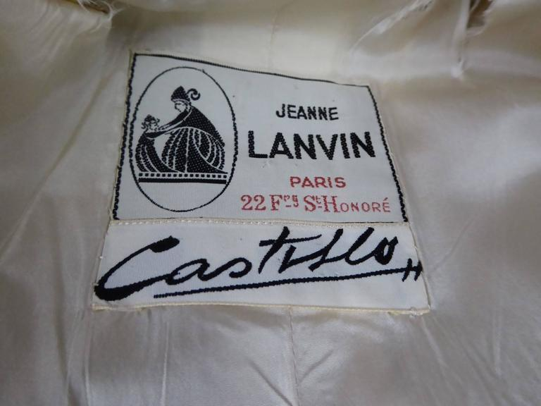 Lanvin Castillo Japonese Inspiration Couture Coat Late 50s For Sale 4