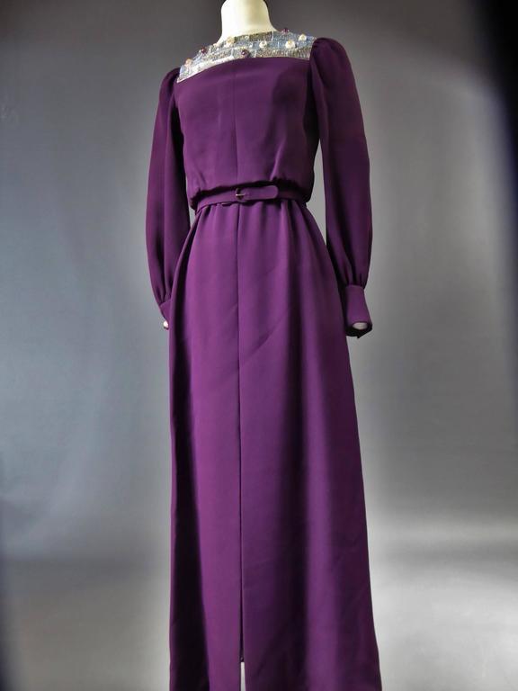 Nina Ricci Couture Kleid Kollektion Jeune Femme, 1970er Jahre 5
