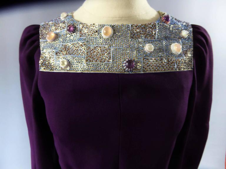 Nina Ricci Couture Kleid Kollektion Jeune Femme, 1970er Jahre 8