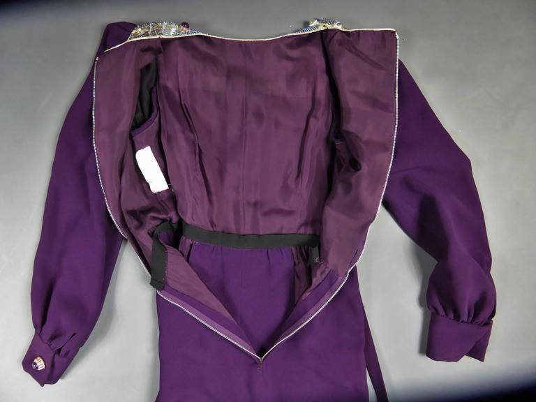 Nina Ricci Couture Kleid Kollektion Jeune Femme, 1970er Jahre 9