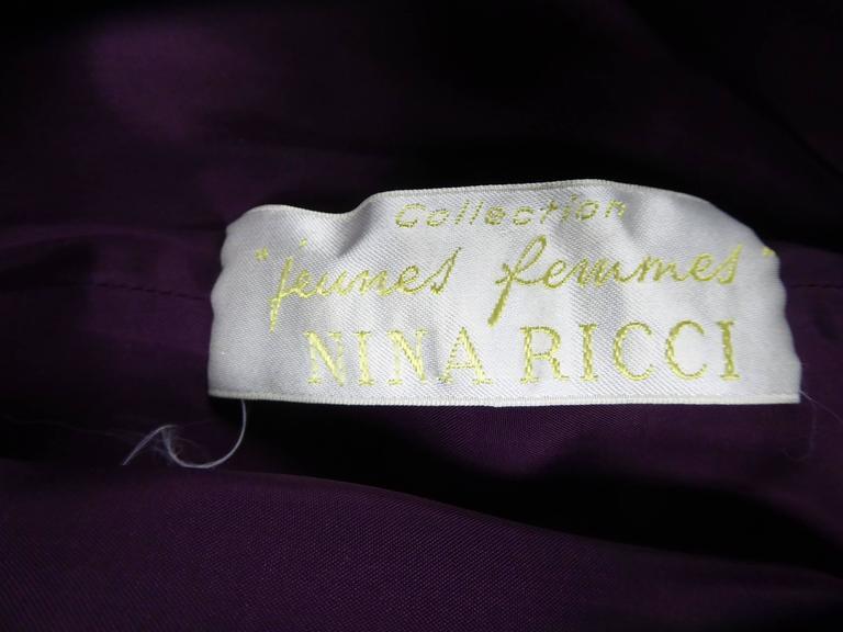 Nina Ricci Couture Kleid Kollektion Jeune Femme, 1970er Jahre 10