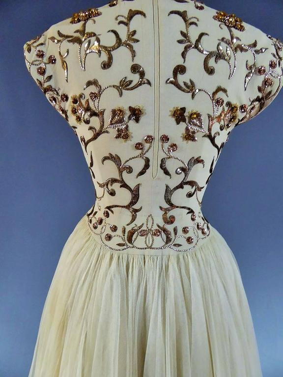 Jeanne Lanvin Catwalk Couture Gown Circa 1945/1950 1