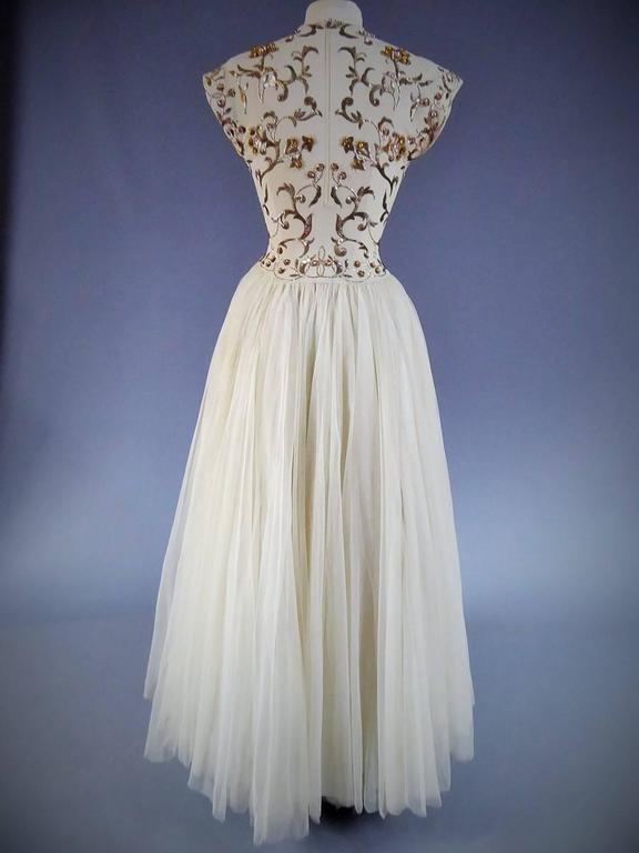 Jeanne Lanvin Catwalk Couture Gown Circa 1945/1950 2