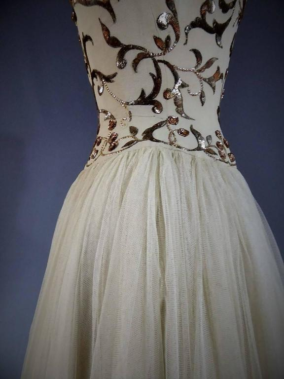 Jeanne Lanvin Catwalk Couture Gown Circa 1945/1950 3