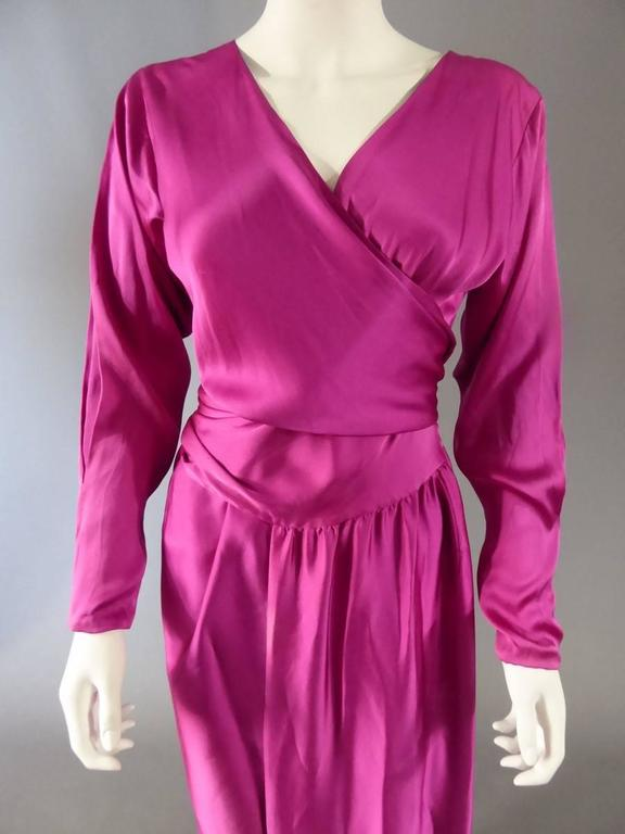 Purple  Lanvin Haute Couture Evening Dress Numbered 18073 For Sale
