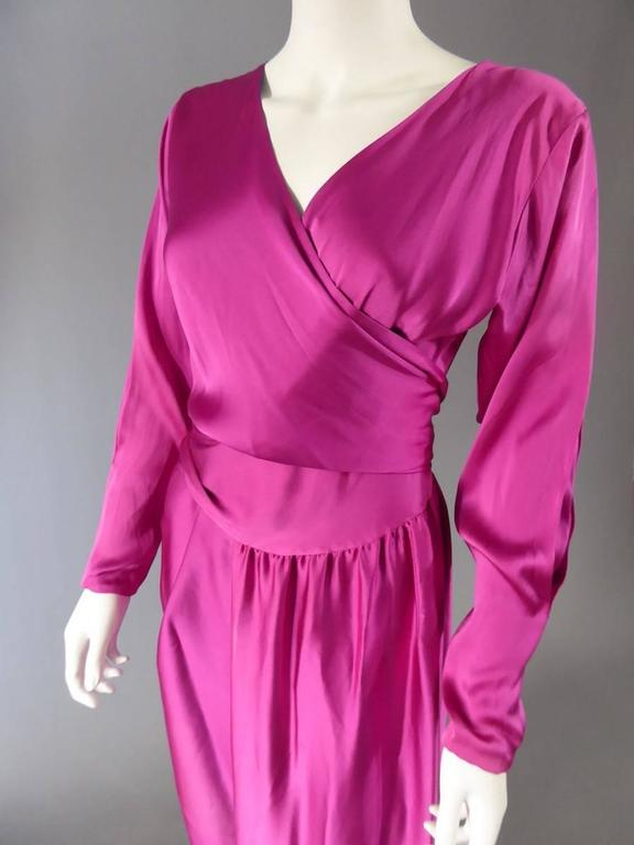 Lanvin Haute Couture Evening Dress Numbered 18073 In Excellent Condition For Sale In Toulon, FR