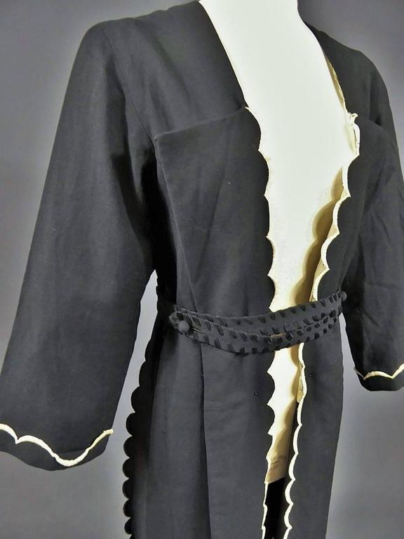Black  Evening Or Interior Kaftan Madeleine Chéruit Haute Couture Circa 1920/30 For Sale
