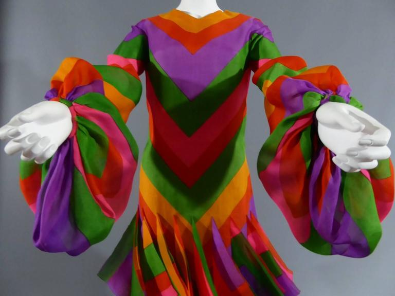 Pierre Cardin Haute Couture Evening Dress, circa 1970 In Excellent Condition For Sale In Toulon, FR