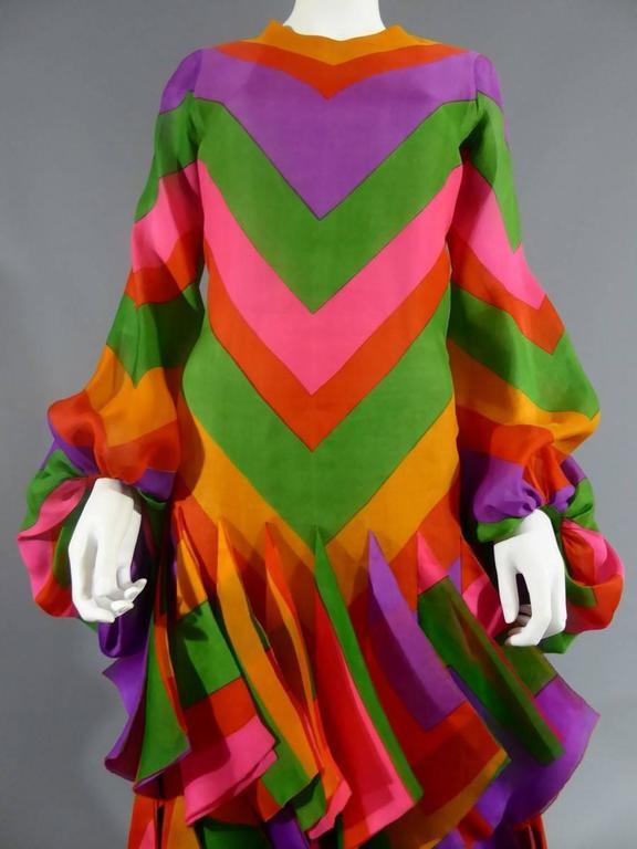 Pierre Cardin Haute Couture Evening Dress, circa 1970 For Sale 1