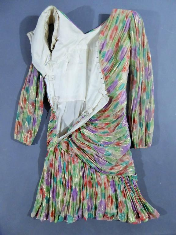Gray Emanuel Ungaro Haute Couture Dress Numbered 861 For Sale