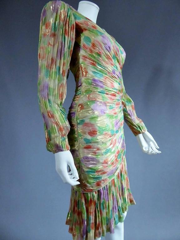 Emanuel Ungaro Haute Couture Dress Numbered 861 In Excellent Condition For Sale In Toulon, FR