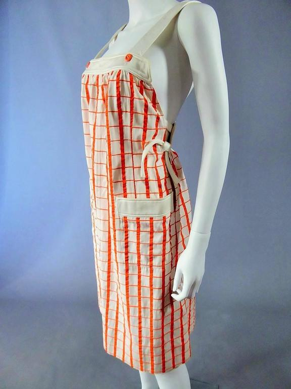 Brown André Courrèges Dress Numbered 19055 For Sale
