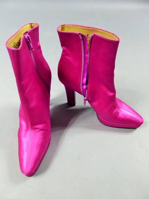 Yves Saint Laurent Shocking Pink Shoes For Sale 5