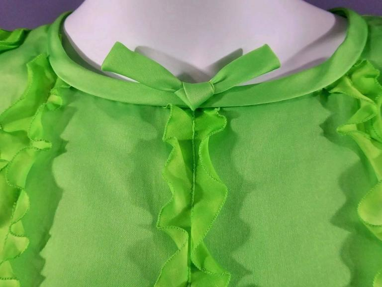 Green André Courrèges Haute Couture n°1398 For Sale