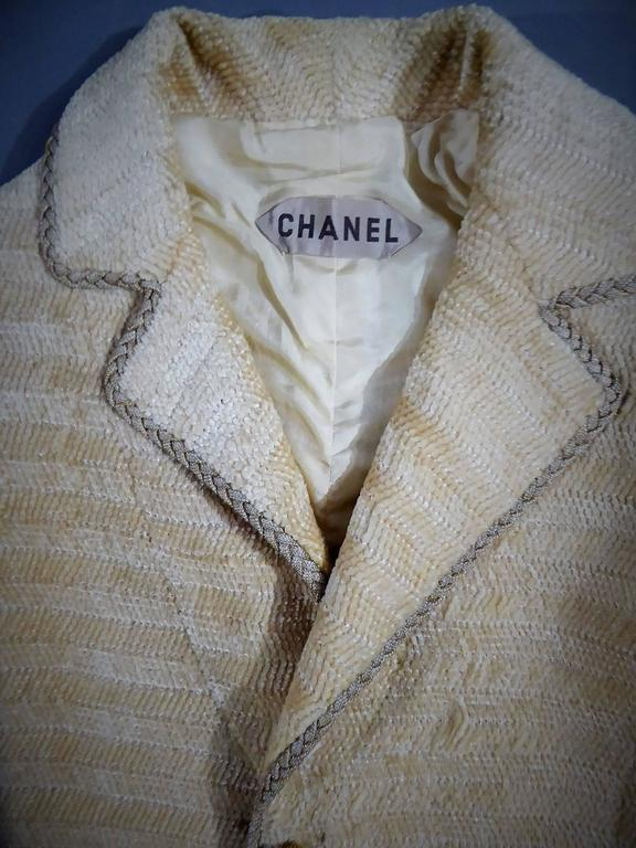 Beige Chanel Haute Couture Suit, Circa 1970 For Sale