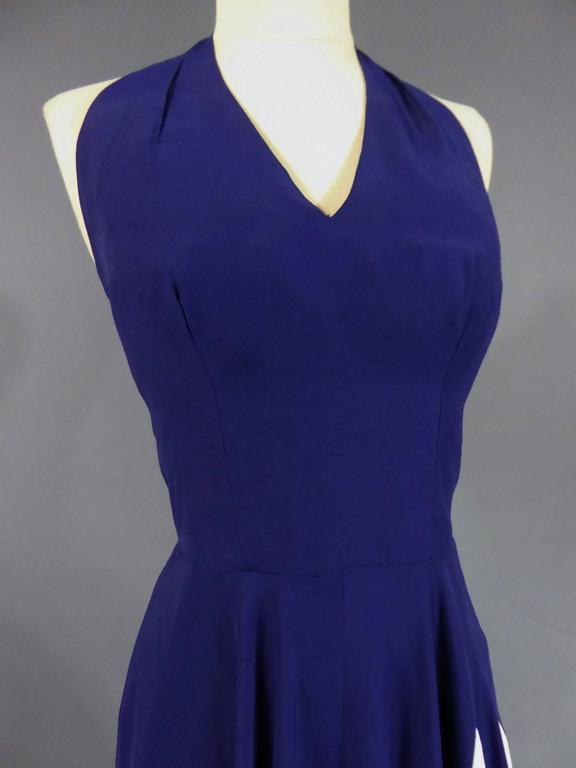 Gray Henry à la Pensée Dress, circa 1950 For Sale