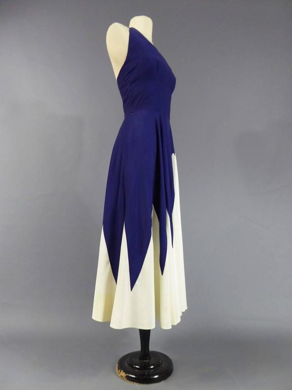 Women's Henry à la Pensée Dress, circa 1950 For Sale