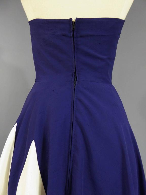 Henry à la Pensée Dress, circa 1950 For Sale 2