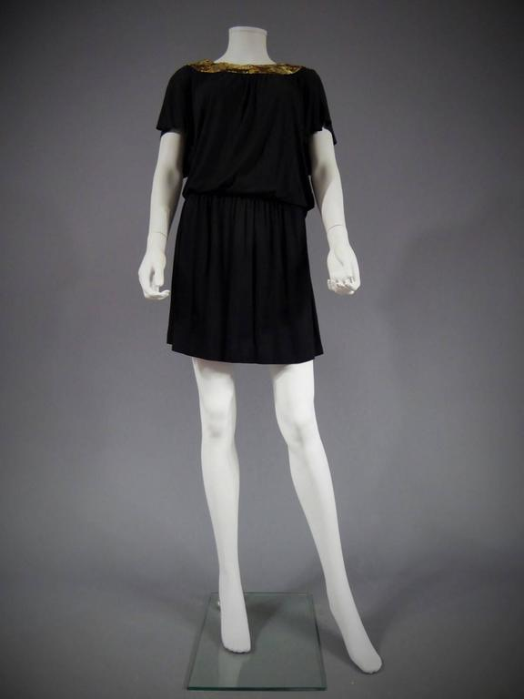 Black Biba black mini Dress, Circa 1970 For Sale