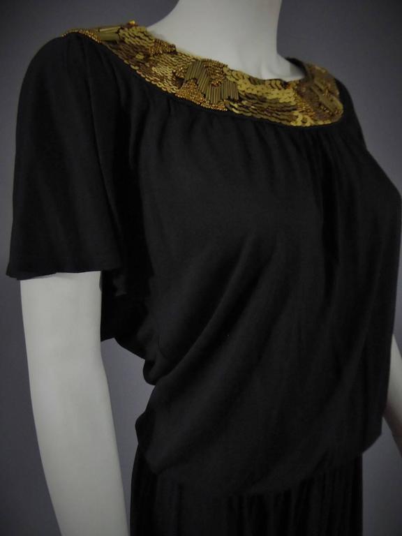 Women's Biba black mini Dress, Circa 1970 For Sale