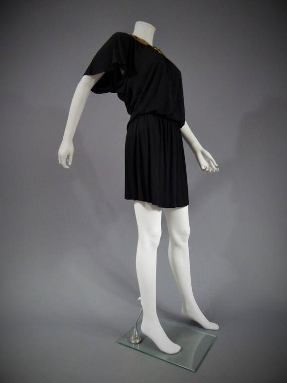 Biba black mini Dress, Circa 1970 For Sale 2
