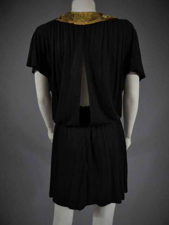 Biba black mini Dress, Circa 1970 For Sale 3