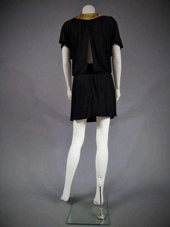 Biba black mini Dress, Circa 1970 For Sale 4
