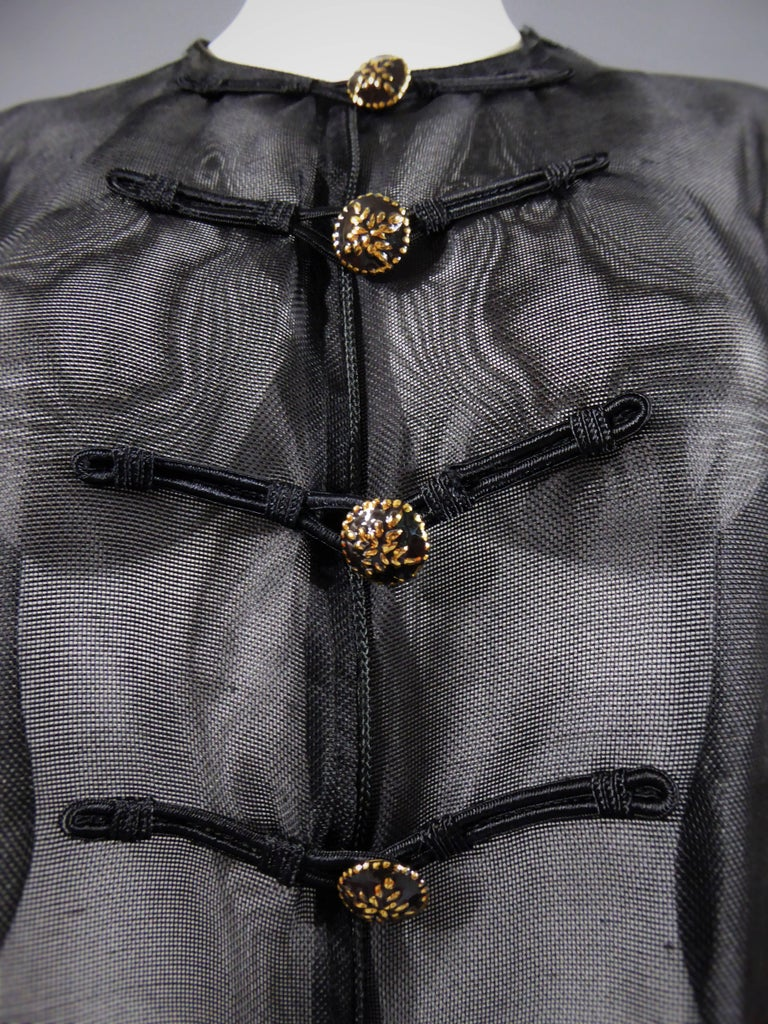 Women's Yves Saint Laurent Rive Gauche Blouse Chinese Collection, Circa 1980 For Sale