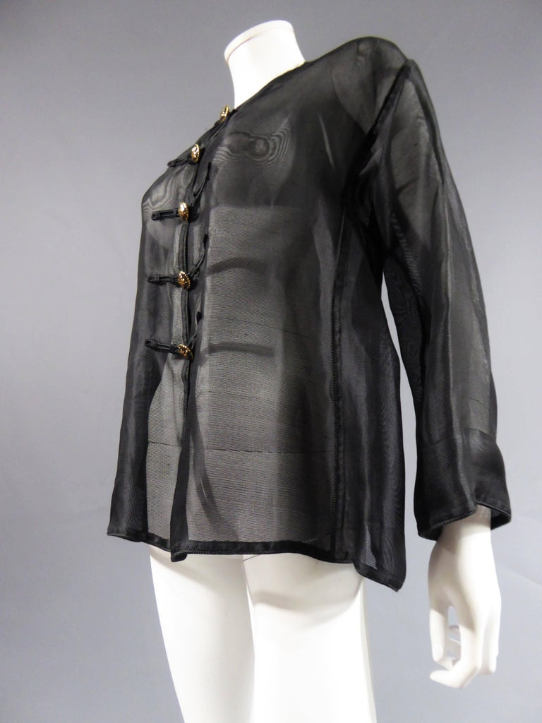 Yves Saint Laurent Rive Gauche Blouse Chinese Collection, Circa 1980 For Sale 1