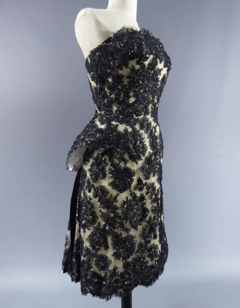 Carven Haute Couture Circa 1960 In Excellent Condition For Sale In Toulon, FR