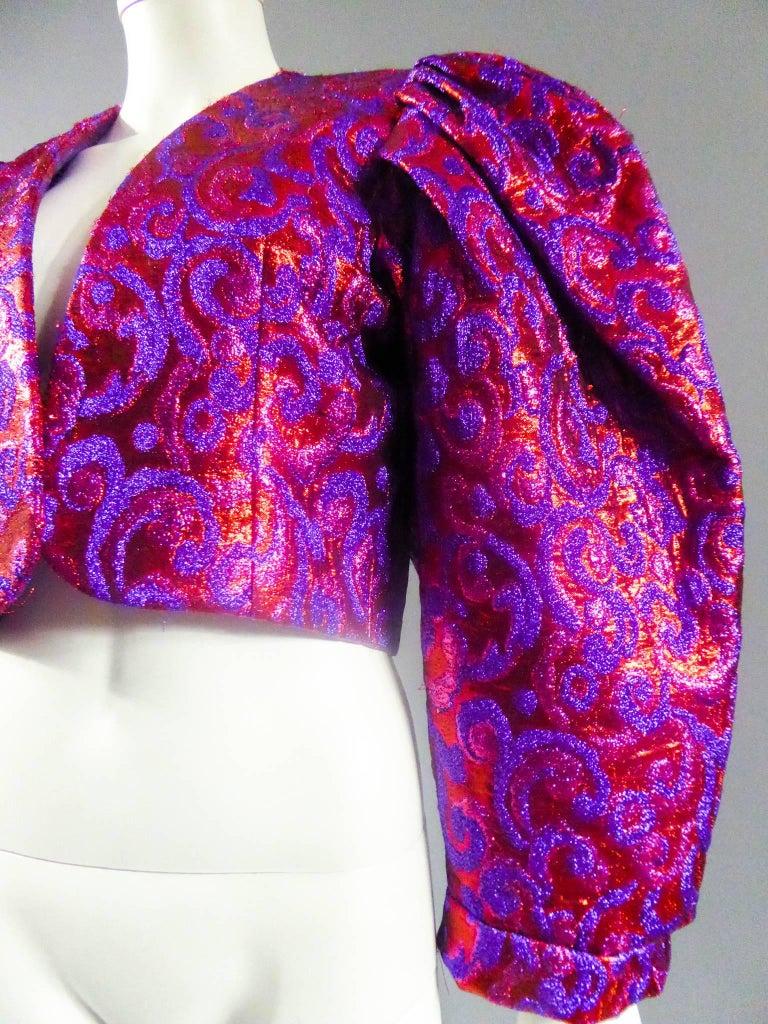 Women's Yves Saint Laurent Haute Couture Boléro, Winter 1989 For Sale