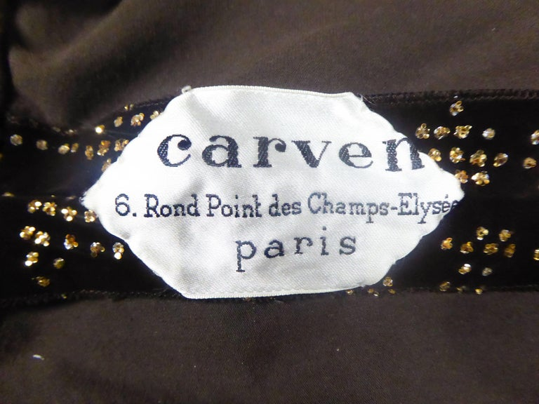 Carven Long Velvet Dress, Circa 1975 For Sale 5