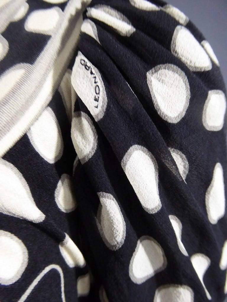 Black Léonard Dress, Circa 1970 - 1975 For Sale
