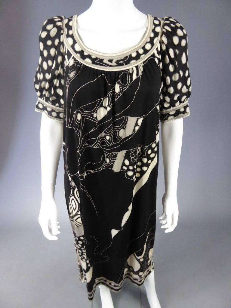 Léonard Dress, Circa 1970 - 1975 In Excellent Condition For Sale In Toulon, FR