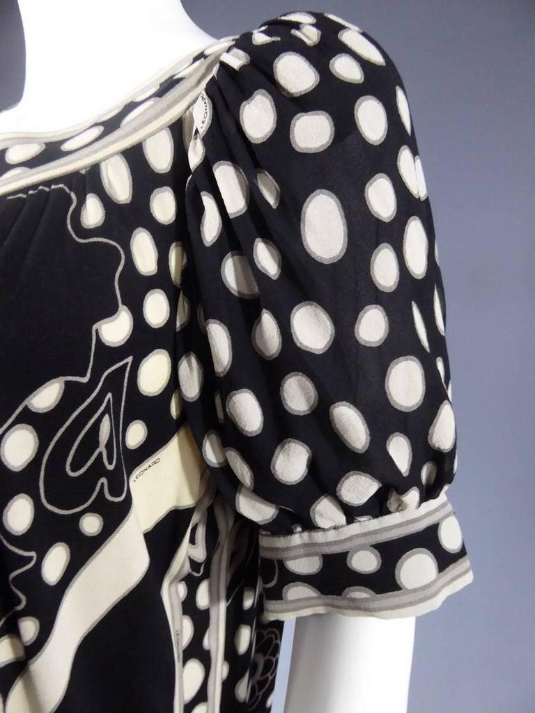 Léonard Dress, Circa 1970 - 1975 For Sale 2