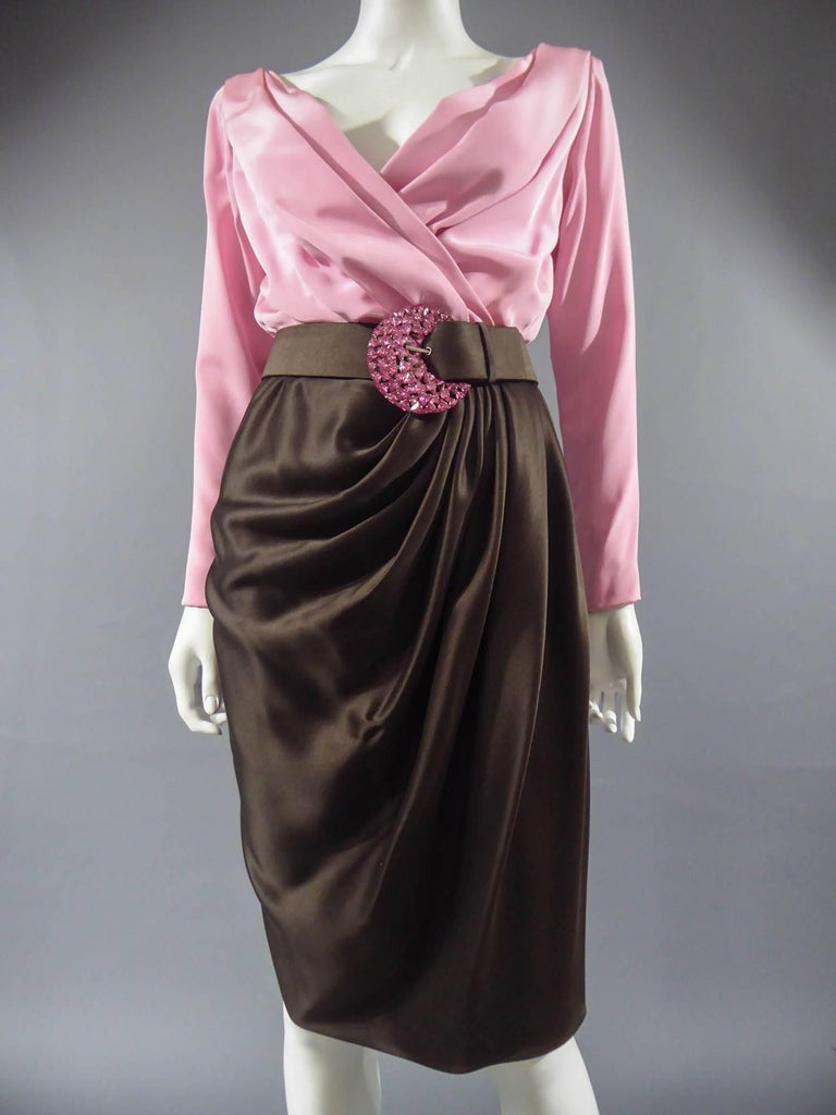 Women's Yves Saint Laurent Haute Couture evening set numbered 65123, Circa 1989 For Sale