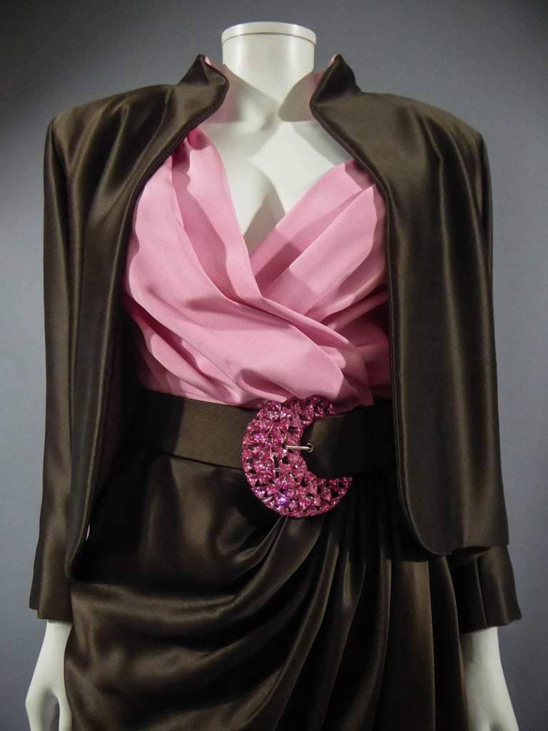 Yves Saint Laurent Haute Couture evening set numbered 65123, Circa 1989 For Sale 5