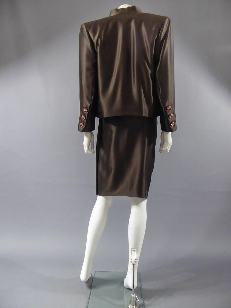 Yves Saint Laurent Haute Couture evening set numbered 65123, Circa 1989 For Sale 7