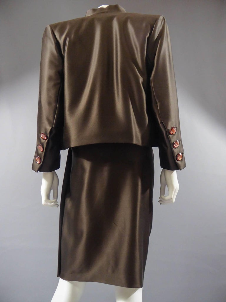 Yves Saint Laurent Haute Couture evening set numbered 65123, Circa 1989 For Sale 8