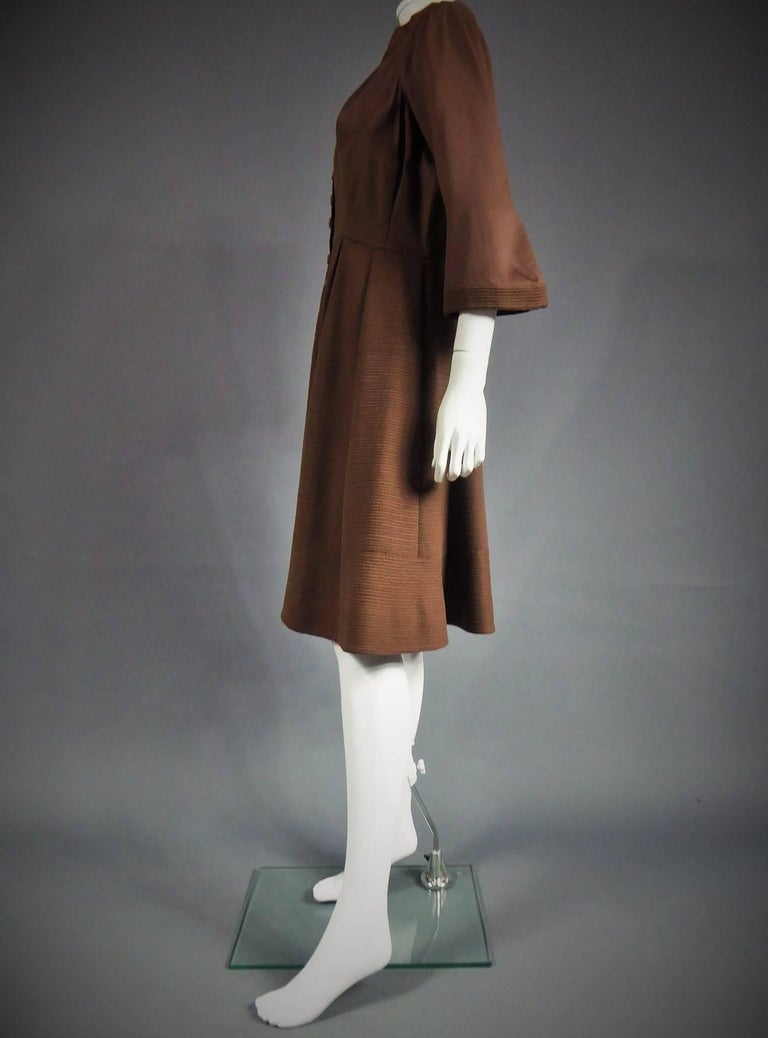 Carven Haute Couture Coat Dress, Circa 1944 / 1947 In Excellent Condition For Sale In Toulon, FR