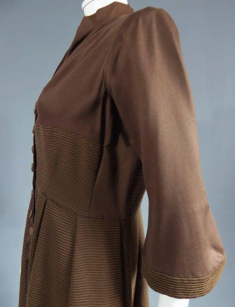 Women's Carven Haute Couture Coat Dress, Circa 1944 / 1947 For Sale