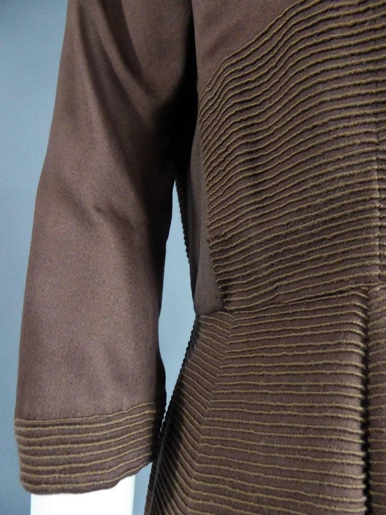 Carven Haute Couture Coat Dress, Circa 1944 / 1947 For Sale 2